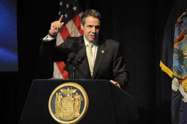 Governor Cuomo at Molloy College talking about his