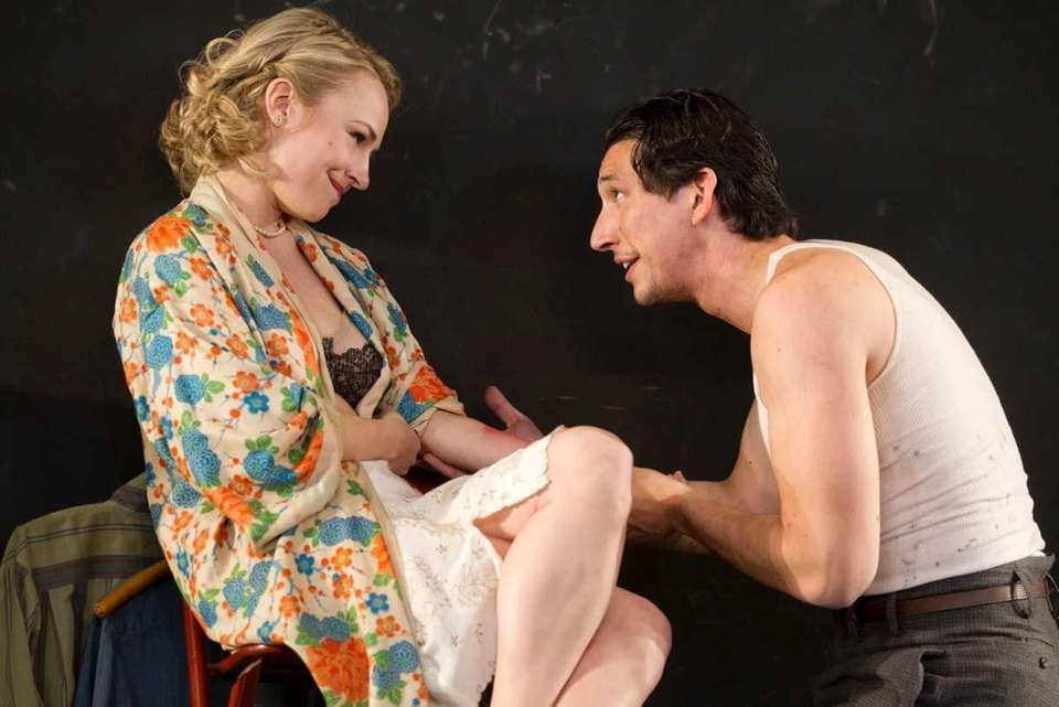 Sarah Goldberg and Adam Driver in the Roundabout