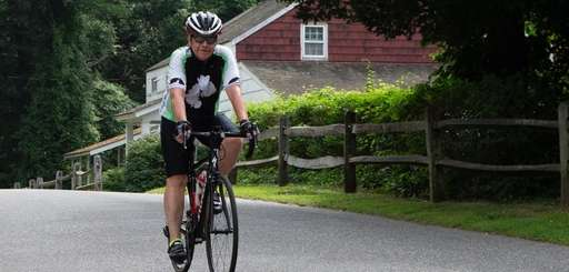 A bicyclist takes a ride through West Hills