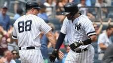 New York Yankees third base coach Phil Nevin