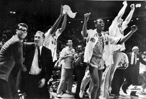 In 1966, Don Haskins' Texas Western men's basketball