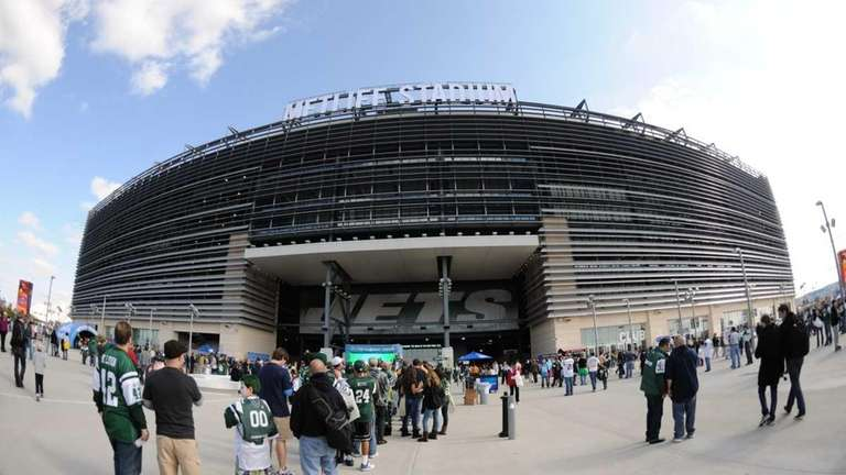 A general view outside of MetLife Stadium during