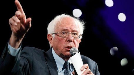 Democratic presidential candidate Sen. Bernie Sanders speaks at