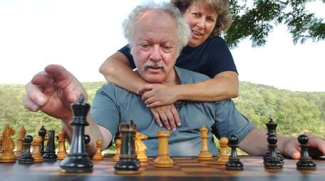 Chess master Shelby Lyman and his wife, Michele.