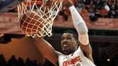 Syracuse's Fab Melo dunks against Providence during the