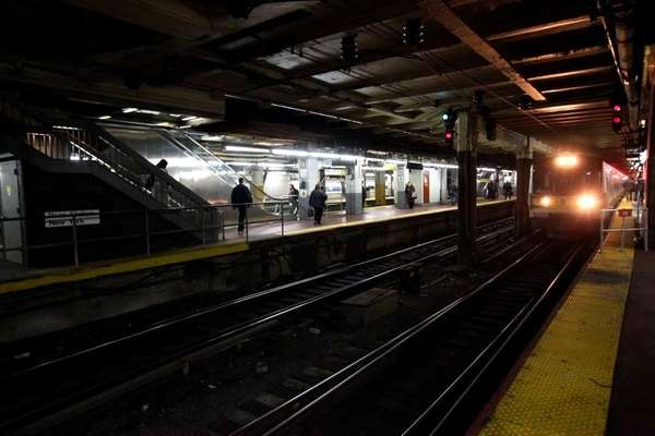A LIRR train at Penn Station. (Jan. 26,