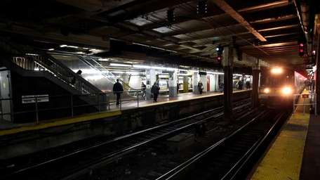 A LIRR train at Penn Station. (Jan. 26,