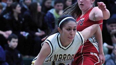 Lynbrook's Brooke Gerstman drives the baseline. (Feb. 3,