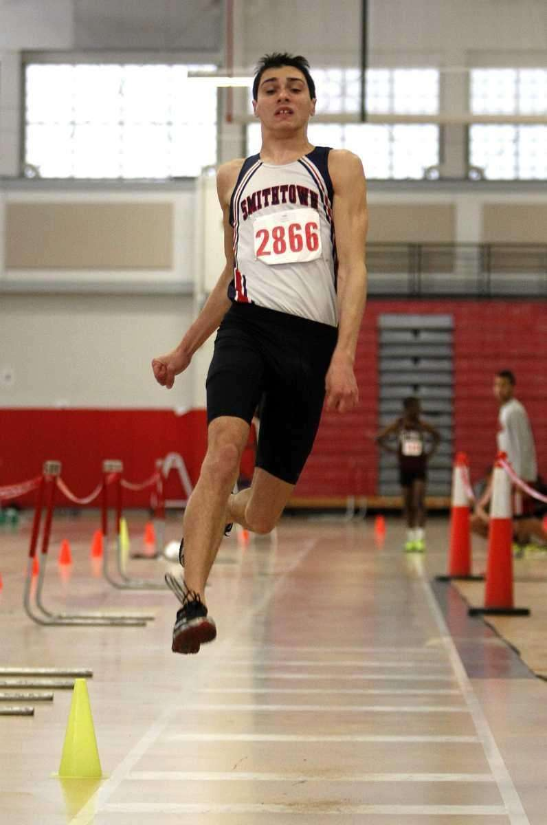 Smithtown West's Devin Mirenda won the long jump.