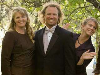 Kody Brown with his wives, from left, Janelle,