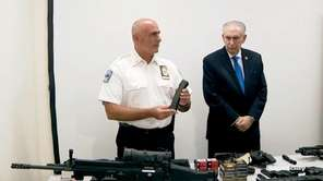 An extensivecache of weapons and armor was seized