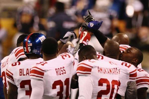 Members of the New York Giants are seen