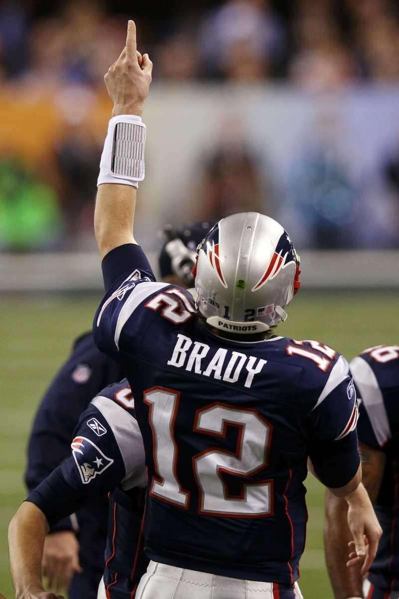Tom Brady of the New England Patriots celebrates