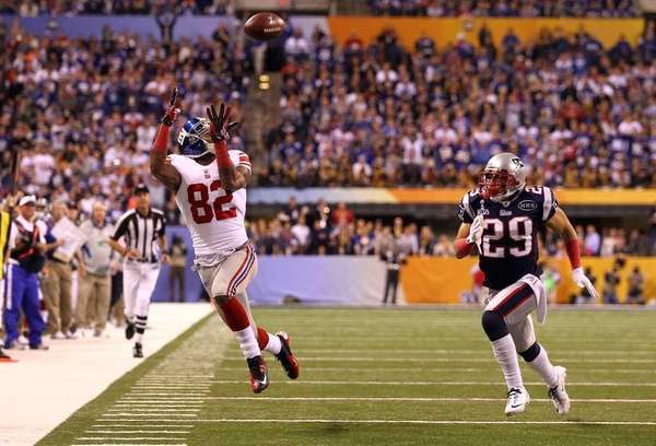Mario Manningham of the New York Giants makes