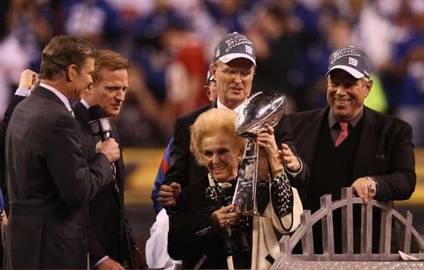 Giants co-owner Ann Mara poses with the Vince