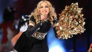Madonna performs during the Bridgestone Super Bowl XLVI