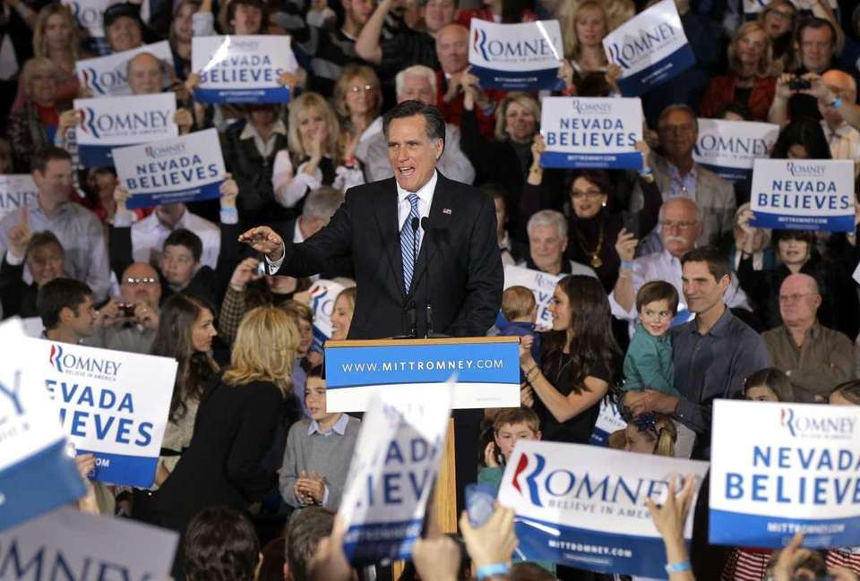 Republican presidential candidate former Massachusetts Gov. Mitt Romney