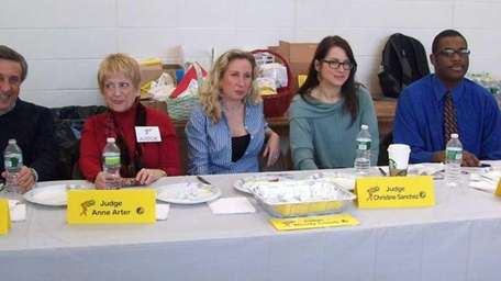 There were five judges on the panel at