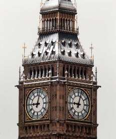 LONDON, UNITED KINGDOM - FEBRUARY 05: The Clock