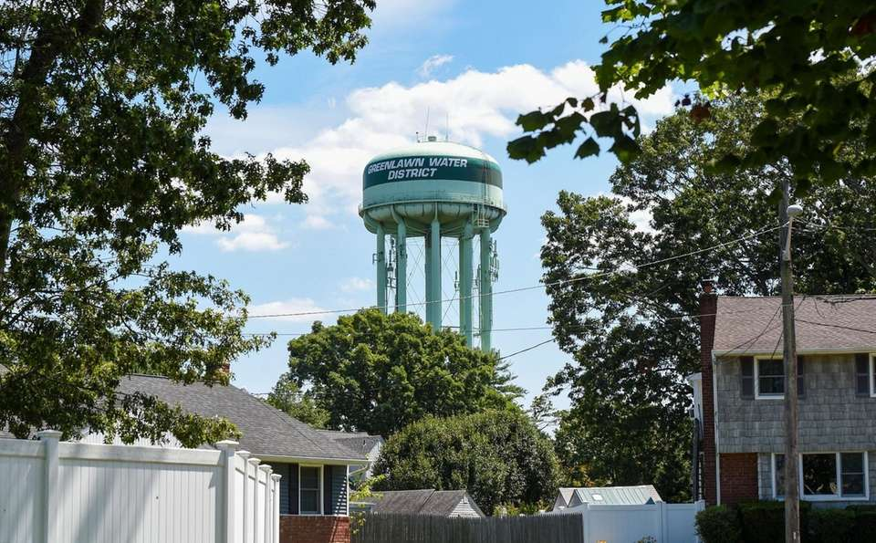 Water tower on the corner of Larkfield Road