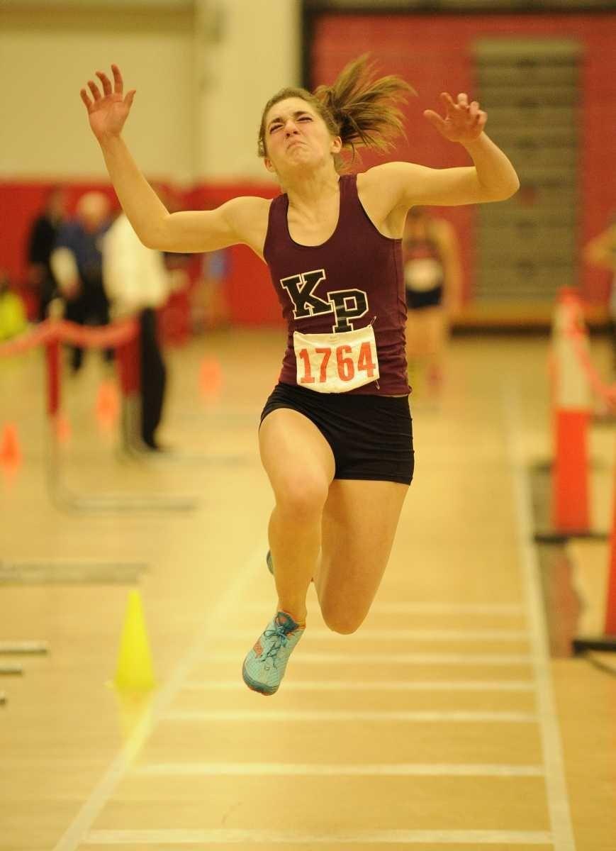 Kings Park's Kayla Koelbel won the triple jump