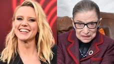 Kate McKinnon, left, and  Supreme Court Justice