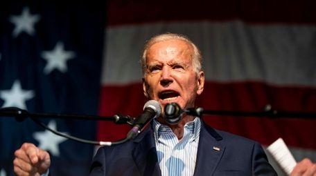 Former vice president Joe Biden speaks to voters