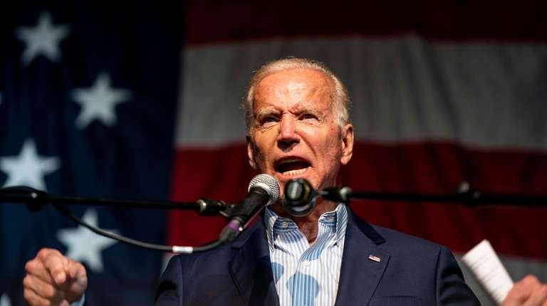 Former vice president Joe Biden speaks to voters