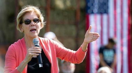 Democratic candidate for United States President Senator Elizabeth