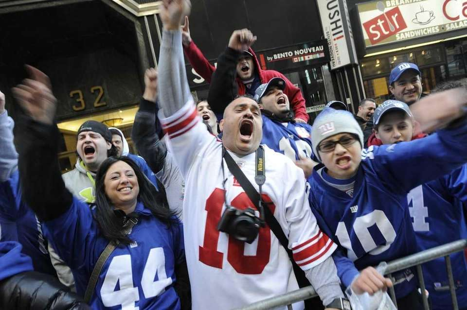 Fans line up early along Broadway in preparation