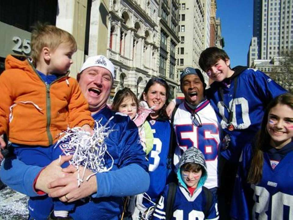 The Hartman family from Massapequa attended the Giants