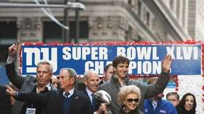Mayor Michael Bloomberg, Eli Manning and others aboard
