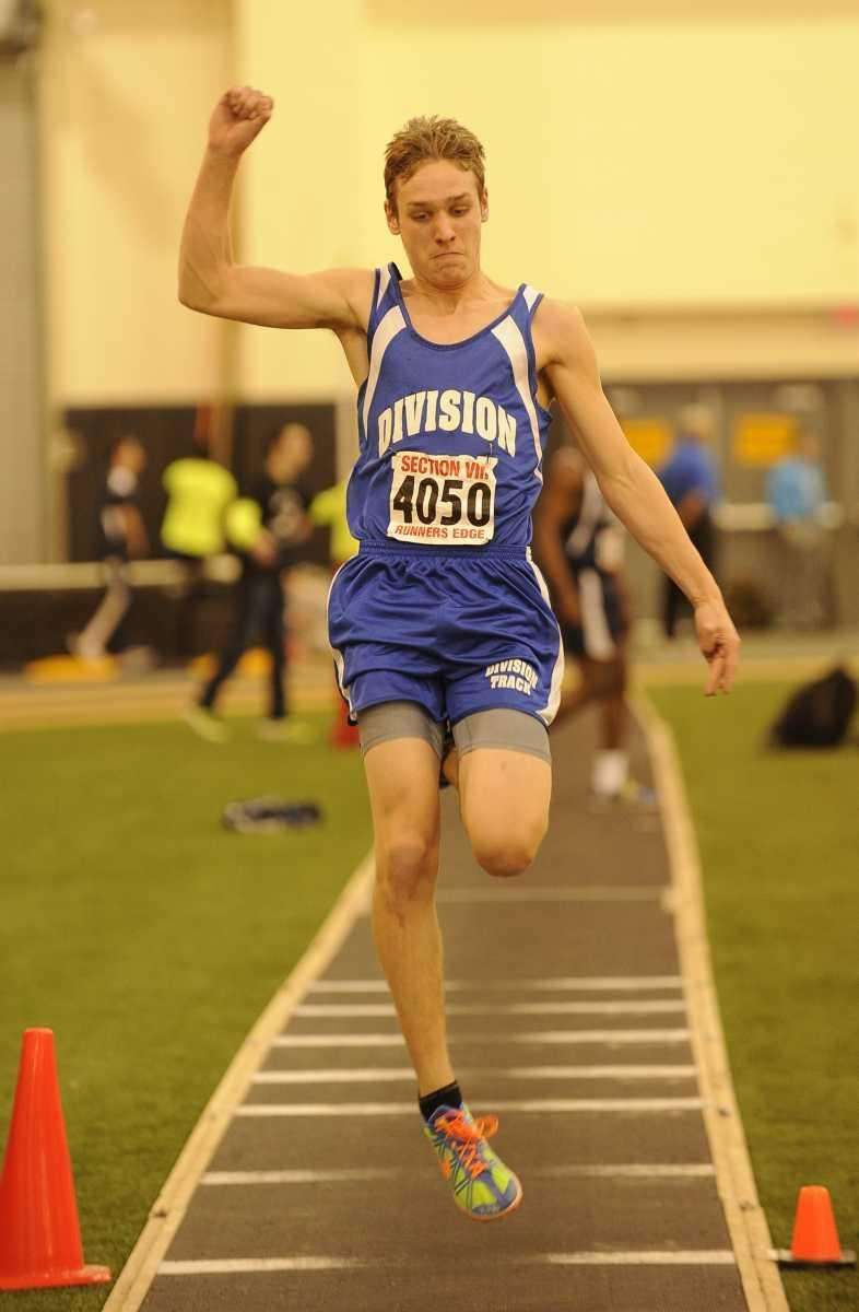 Division's Chris Bradley competes in the long jump