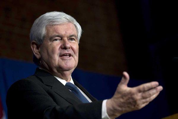 GOP presidential hopeful Newt Gingrich speaks during a