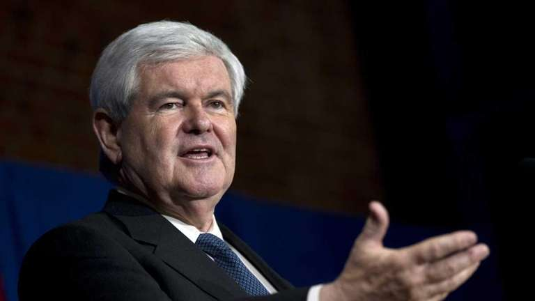 GOP presidential hopeful Newt Gingrich speaks during a