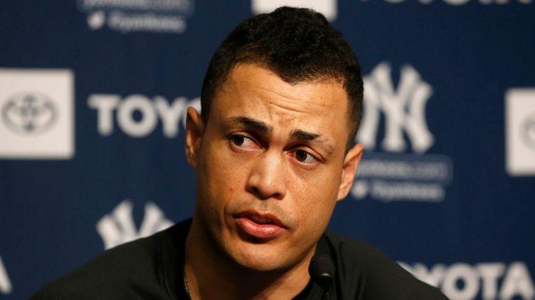 Yankees hopeful Giancarlo Stanton will return next month
