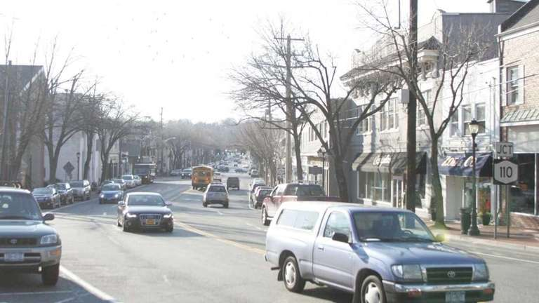 A view of Main Street in Huntington looking