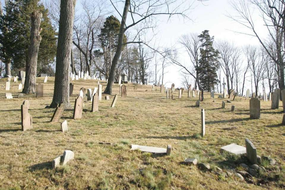 The Old Burial Hill Cemetery is off Main