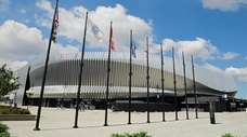A general view outside NYCB Live's Nassau Coliseum