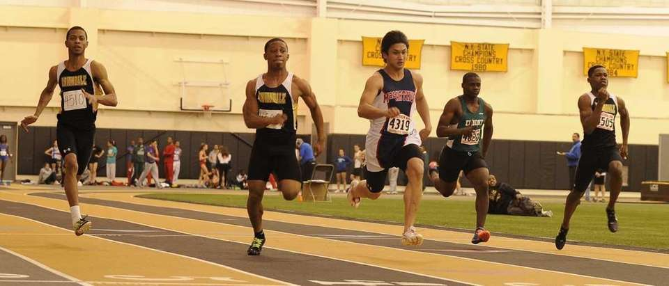 Uniondale's Davon Henry took first place in 6.55