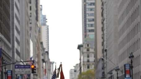US marines march along fifth avenue as part