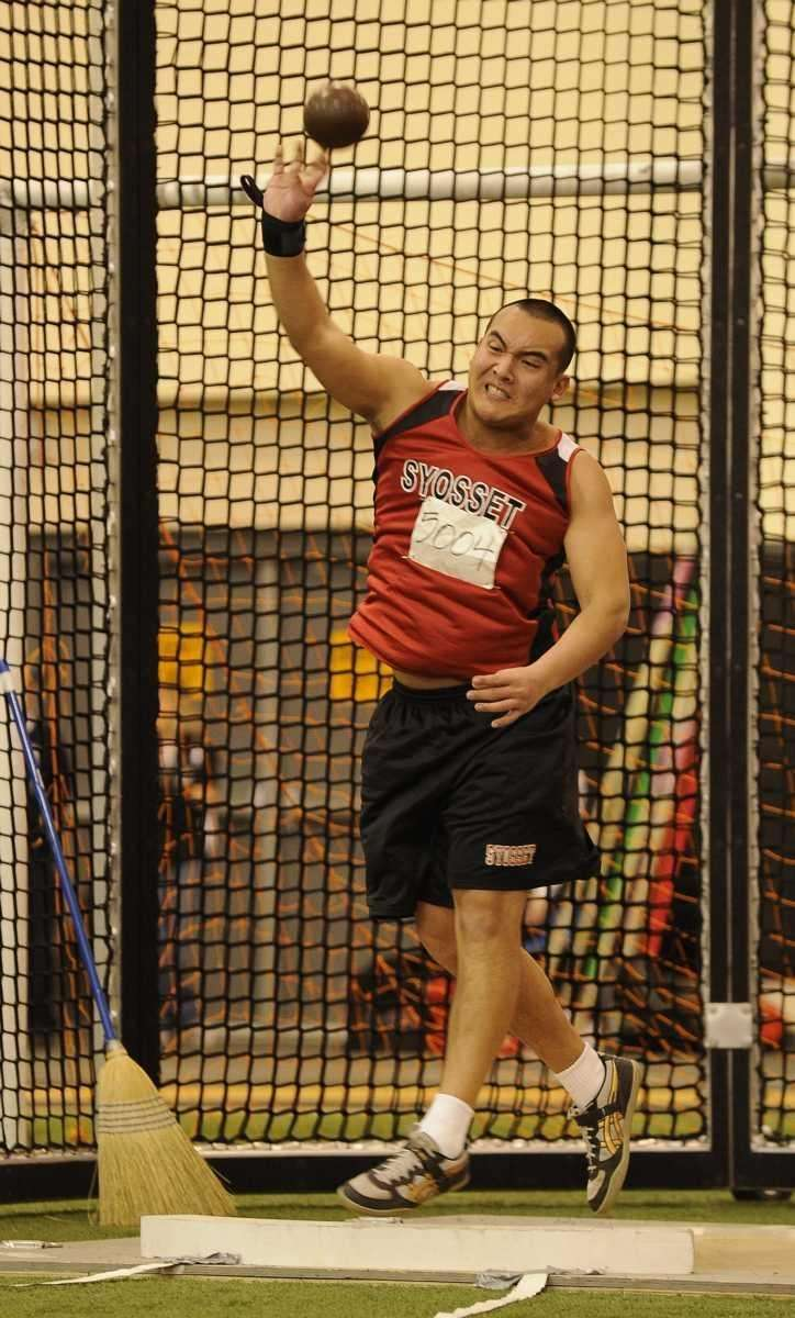 Syosset's Brian Sheng placed second in the shot