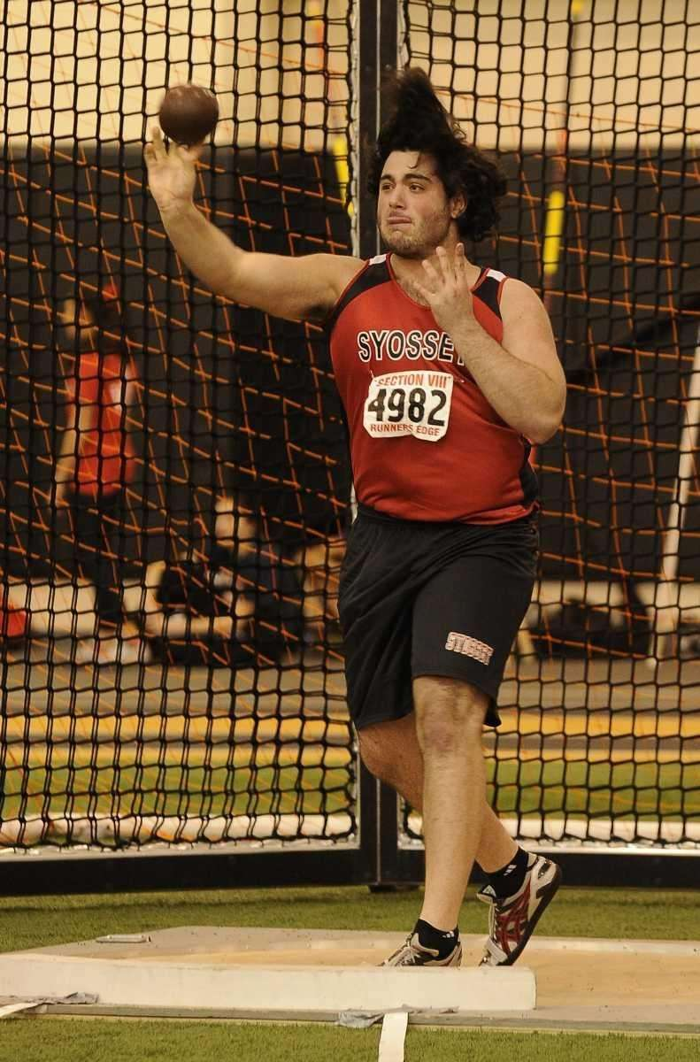 Syosset's John Aronson placed first in the shot