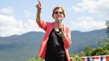 Democratic candidate for United States President Senator Elizabeth