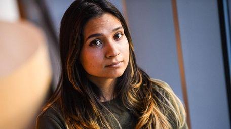 Ruth Militrano, 21, Freeport, inside the Nexus Building