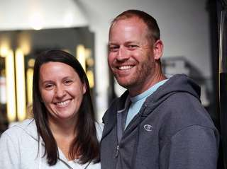 Married couple Kristen and Shawn Meyer of East