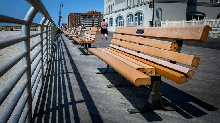 Long Beach fixes benches - many a tribute to 9/11 victims