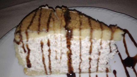 Zuccotto, almond-flavored sponge cake, at Rialto in Carle