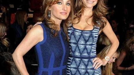 Celebrity chef Giada De Laurentiis (L) and TV