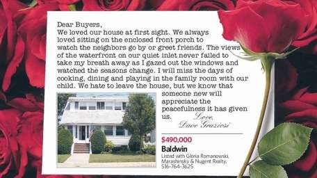 Seller Dave Graziosi wrote this letter about his